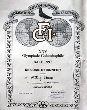 PL-49-93-41695. 5 miejsce w kategorii C - Olimpiada Basel 1997
